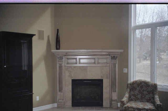 Glazed Finish Fireplace Hearth Painting
