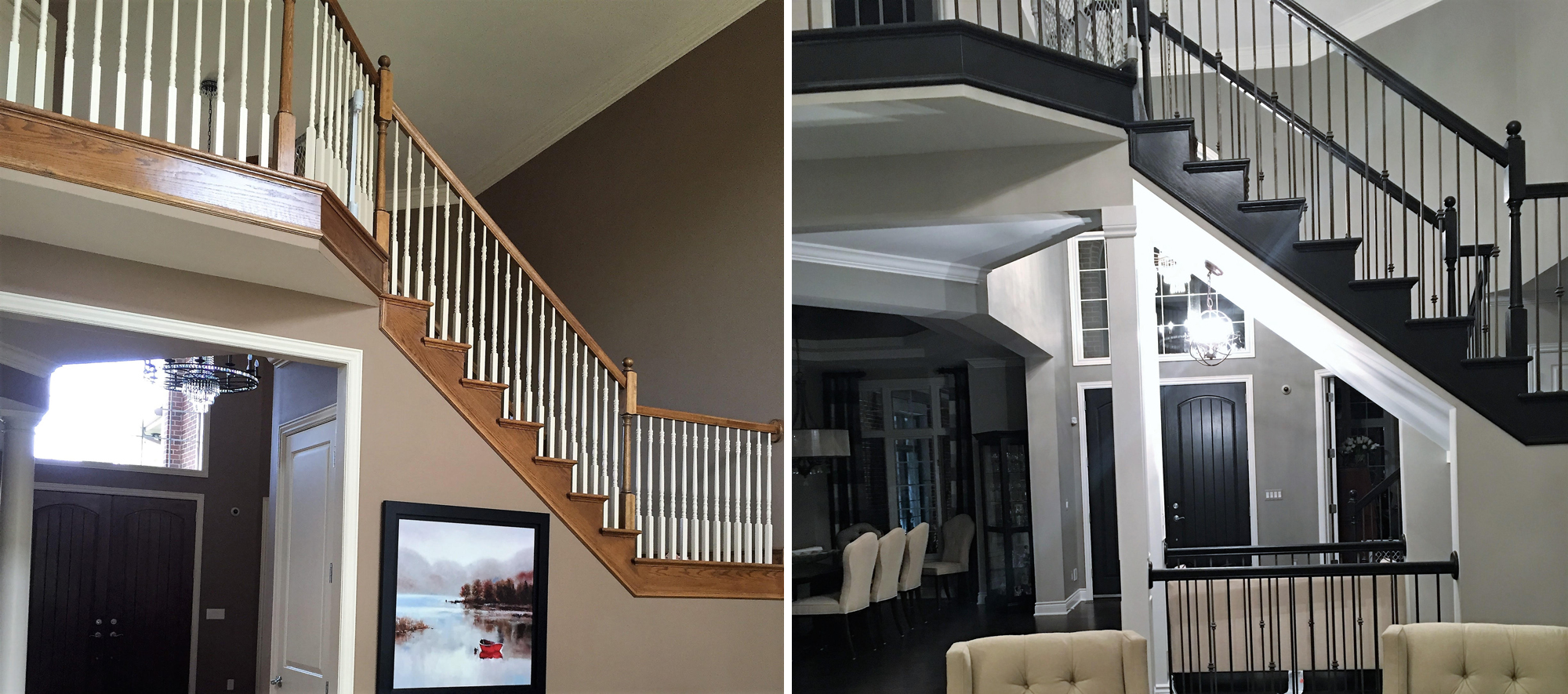 Open Floor Plan Stairs Remodel Shelby Township Mi