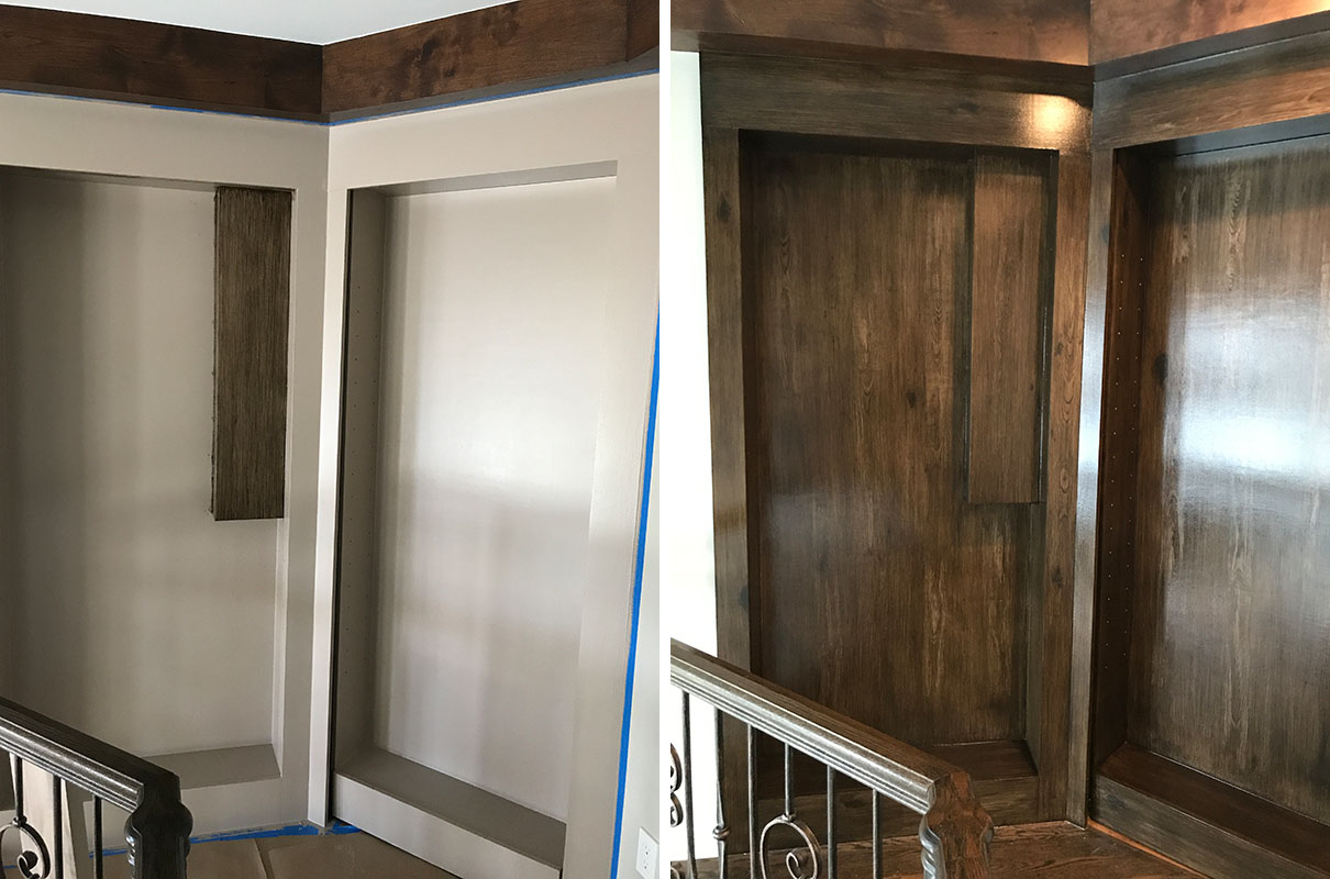 Faux Wood Finish Remodel Washington Township Michigan